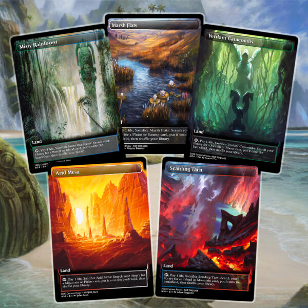 Magicproxyalters We Make Professional Looking Mtg Proxies For Unsanctioned Play Fetch lands are lands that can be sacrificed to search their controller's library for a land of a specific basic land type. mtg proxies